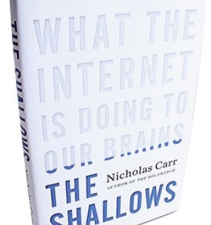 book review the shallows what the internet is doing to our brains by nicholas carr essay Whether i'm online or not, my mind now expects to take in information the way the  net  nicholas g carr, the shallows: what the internet is doing to our brains  synopsis  a writer of books, essays and ephemera.