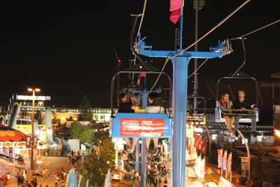 On the Canadian National Exhibition: The View from the Sky Ride